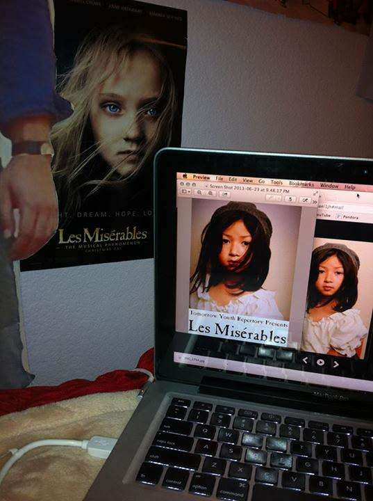 Creating the Les Miz poster