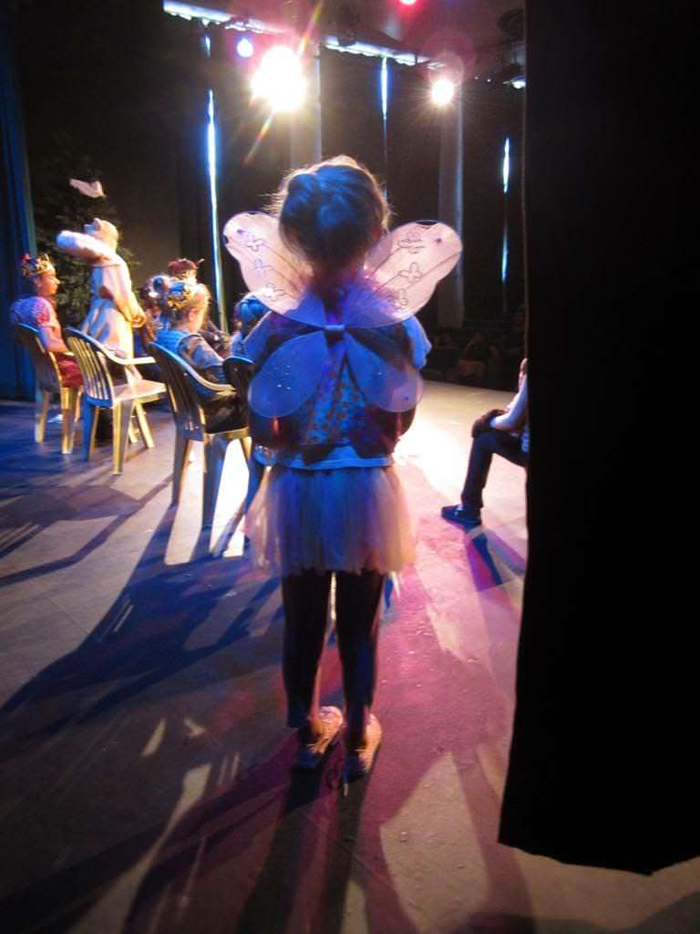 A girl waits in the wings to go onstage in Narnia production