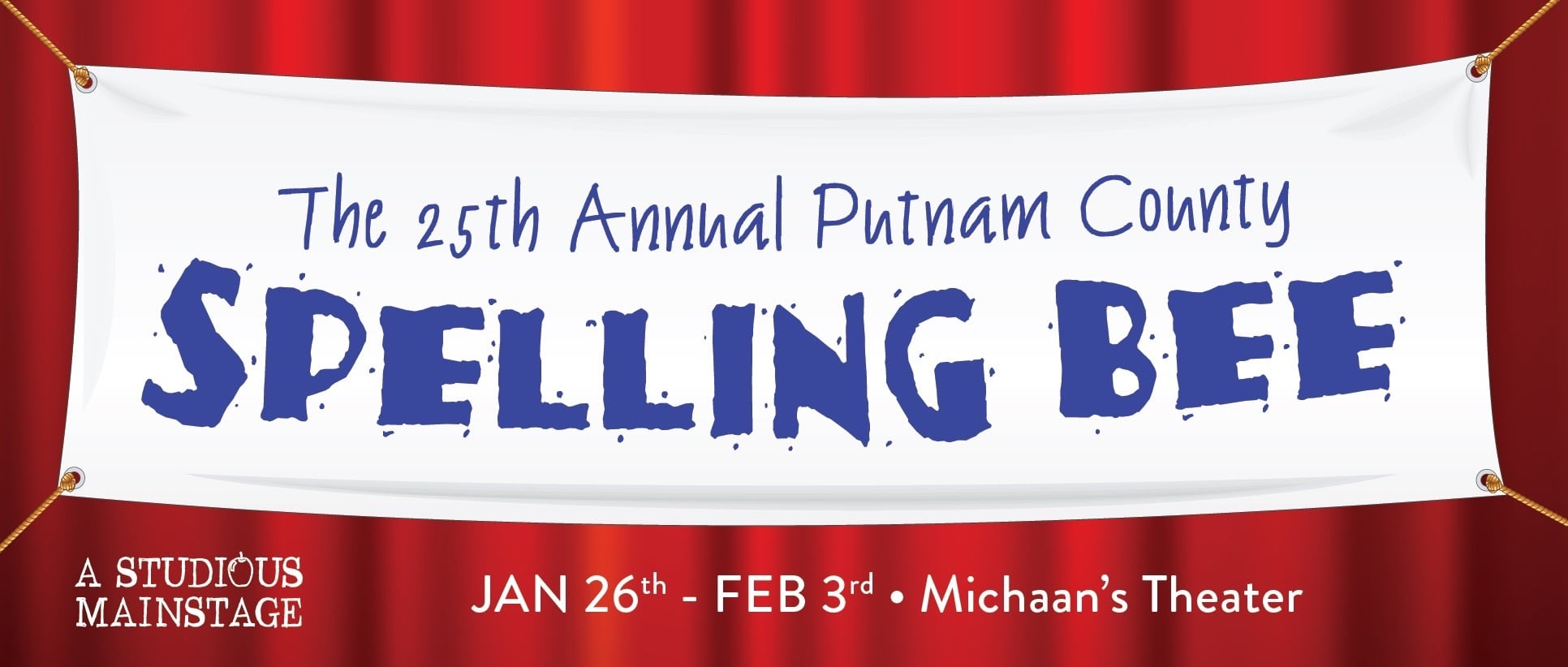 Tomorrow Youth Rep Banner image, from The 25th Annual Putnum County Spelling Bee, 2018